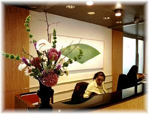 Office Reception Desk Arrangement